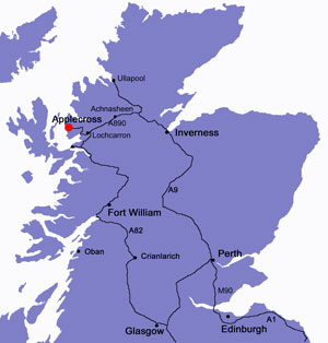 Map of Scotland
